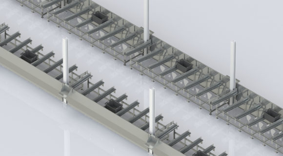 Industrial design solutions   Tote load/unload stations